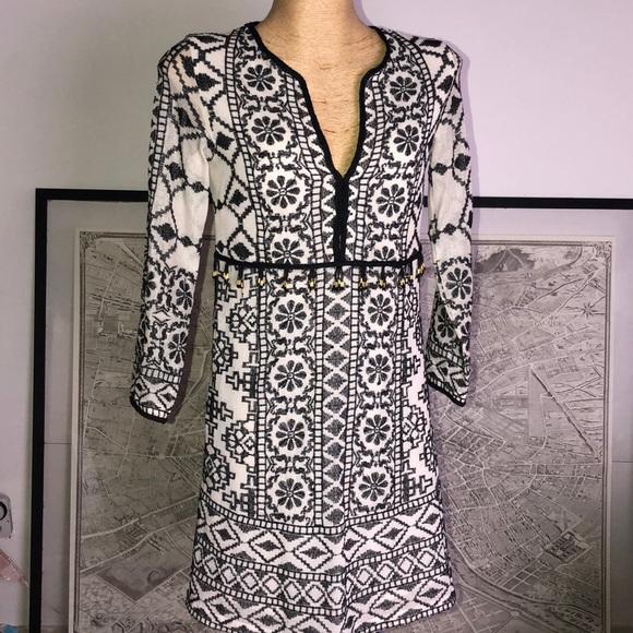 Antik Batik Dresses & Skirts - New Antik Batik Short Dress in Ivory Embroidered